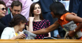 Anne Hathaway hits Wimbledon with Adam Shulman