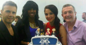 Kelly Rowland, Gary Barlow, Tulisa Contostavlos and Louis Walsh on tomorrows The Chris Moyles Show