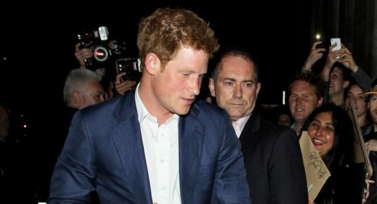 Prince Harry after a night of partying