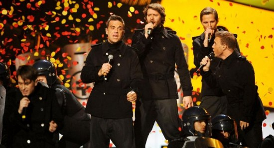 Take That performing live