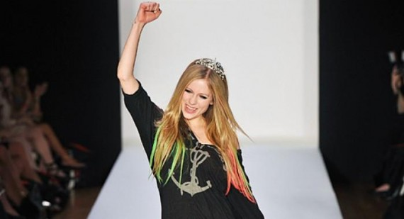 Avril Lavigne's Abbey Dawn show sees The Kardashians out in force