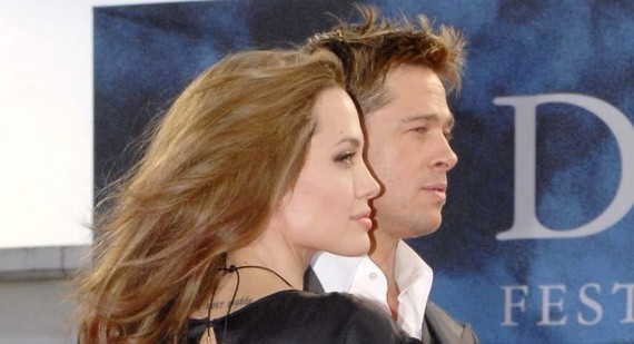 Brad Pitt arrives back at Richmond, London home to Angelina Jolie