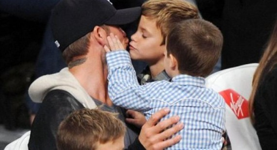 David Beckham is glad his three boys came first