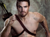 Stephen Amell working hard at filming Arrow season 3