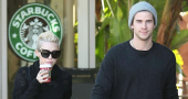 Miley Cyrus once again spotted without her wedding ring