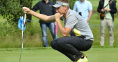Ian Poulter lays a bet with bookie Henrik Stenson