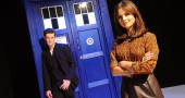 Jenna Coleman attracts a crowd during filming of