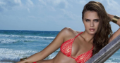 Xenia Deli 'rocks' risque bikini road pics for Alessandra Fiorini