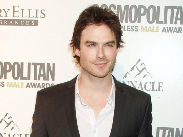 Ian Somerhalder's dapper Golden Globe suit a 'test run' for marriage?