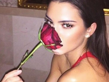 Kendall Jenner has the most perfectly straight hair around