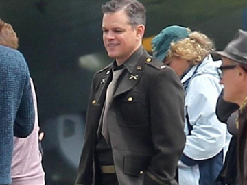 Matt Damon made to feel fat by George Clooney