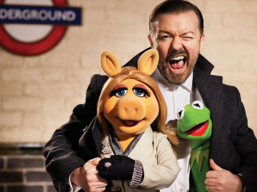 Ricky Gervais and Tina Fey in new Muppets Most Wanted trailer