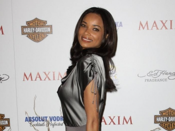 Rochelle Aytes in black designer dress has fans talking about