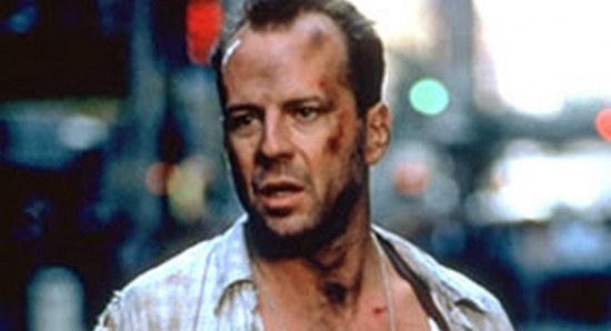 Bruce Willis in his early Die Hard days