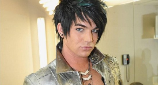 Adam Lambert pouts for the camera
