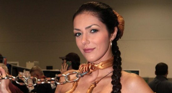 Adrianne Curry in 'cosplay' costume