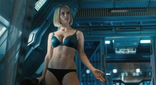 Alice Eve doing her acting thing