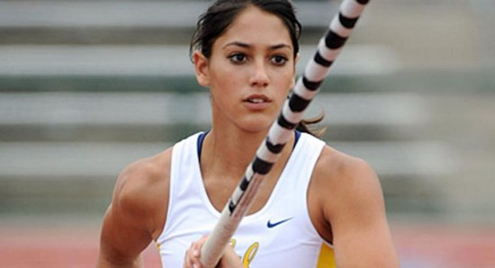 Allison Stokke doing her pole vault thing