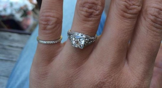 Close up of the ring
