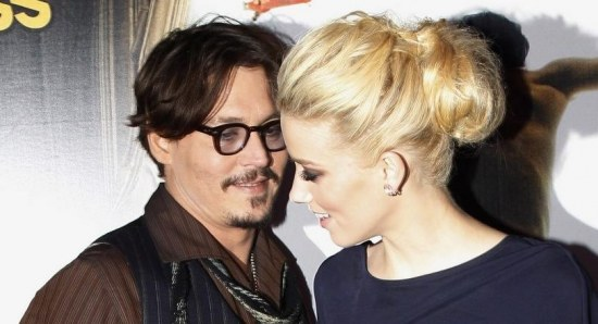 Johnny Depp and Amber Heard doing press for The Rum Diary