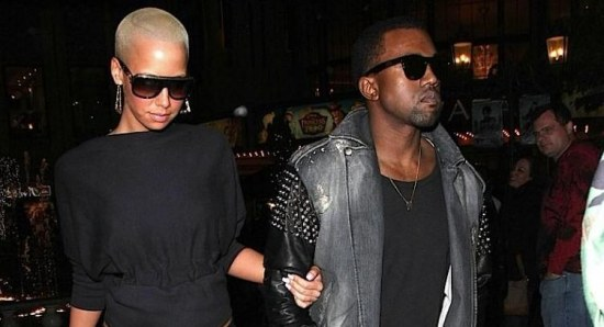 Amber Rose out with ex-boyfriend Kanye West