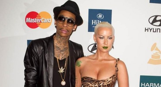 Amber Rose with Wiz Khalifa