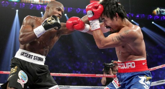 Manny Pacquiao against Timothy Bradley