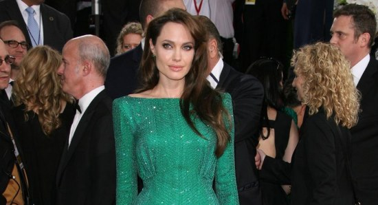 Angelina Jolie looking gorgeous in green dress