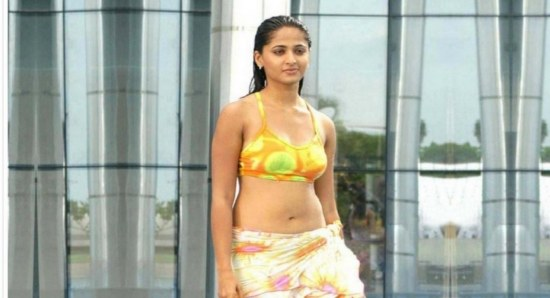 Anushka Shetty in colourful bikini top