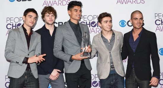 Nathan Sykes with The Wanted