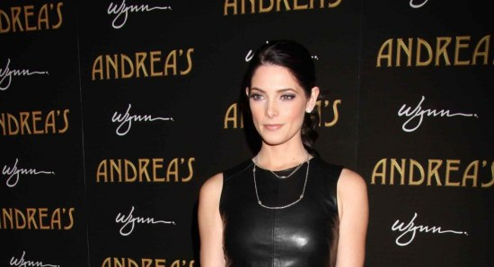 Ashley Greene looking sensational in black outfit