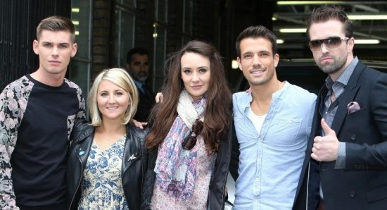 Some of the cast members in London