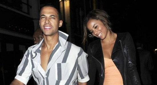 Marvin Humes with wife Rochelle