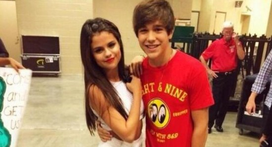 Austin Mahone with Selena Gomez