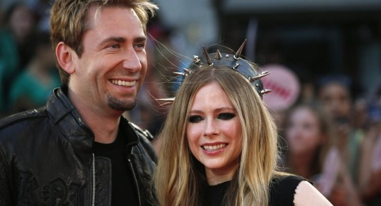 Avril Lavigne with hubby Chad Kroeger