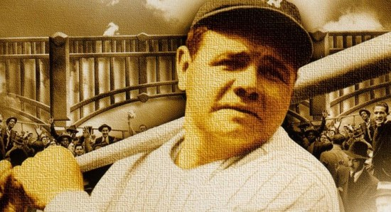 Babe Ruth doing what he does best