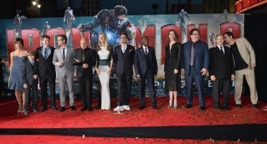 The cast and crew of Iron Man 3