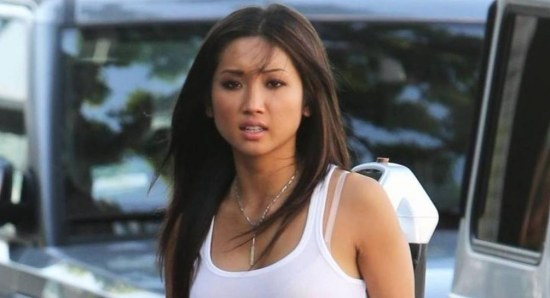 Brenda Song looking 'hot' in white wifebeater