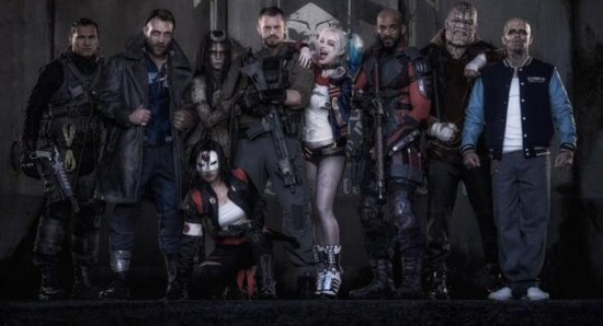 Cara Delevingne with her Suicide Squad co-stars