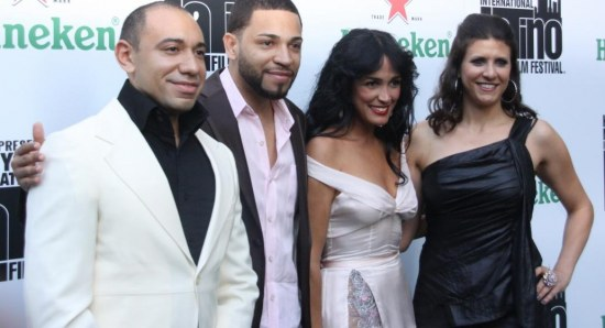 Celines Toribio with friends and her husband