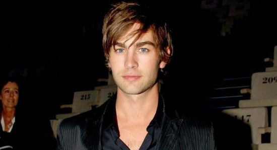 Chace Crawford in black suit