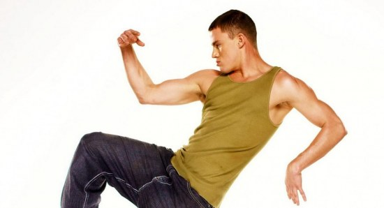 Channing Tatum practicing dance moves