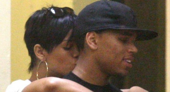 Rihanna and Chris Brown during happier times