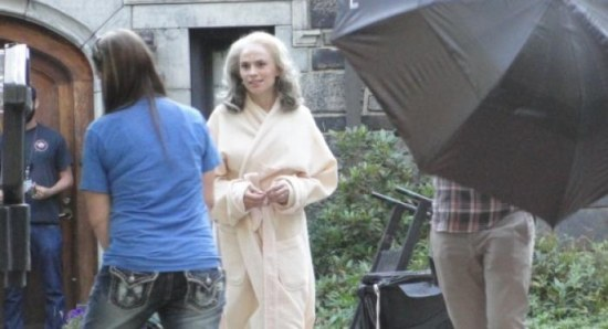 Hayley Atwell on the set of 'Captain America: Winter Soldier'