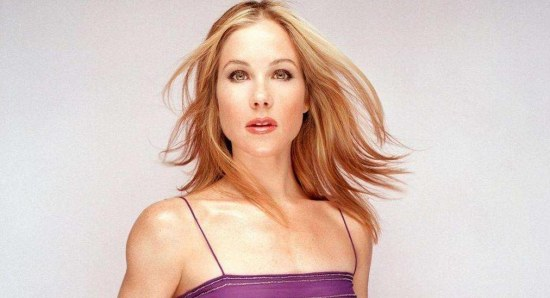 Christina Applegate looking great in purple dress