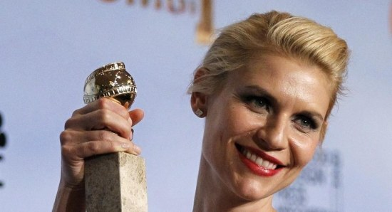 Claire Danes winning her first Golden Globe for Homeland