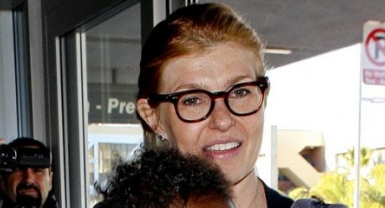 Connie Britton at the airport