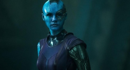 Karen Gillan plays Nebula in Guardians of the Galaxy
