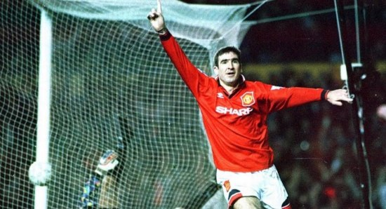 Eric Cantona in his Manchester United days