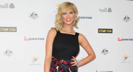 Delta Goodrem looking sensational in black dress